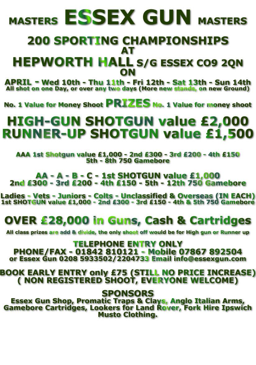 Essex Gun Masters 2013